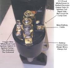 pre engaged lucas starter motor electrical connection