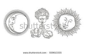 sun and moon vector elements download free vector art stock