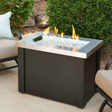 Propane Firepit The Outdoor Greatroom Company Providence Metal Gas Pit Table