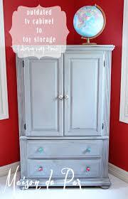 Storage Armoire Cabinet Gray Toy Storage Armoire Makeover Maison De Pax