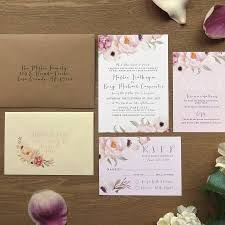 Wedding Invitation Information Card Florence Watercolour Flower Wedding Stationery By Sweet Pea Sunday