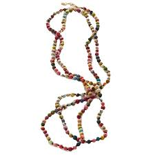 necklace beaded images Kantha bead necklace fair trade winds jpg
