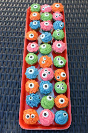 Halloween Monster Cakes by Mini Monster Cupcakes Paint The Gown Red