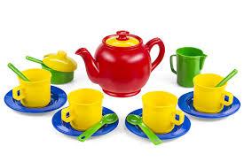 Kitchen Set Toys For Girls Amazon Com Kidzlane Play Tea Set 15 Durable Plastic Pieces