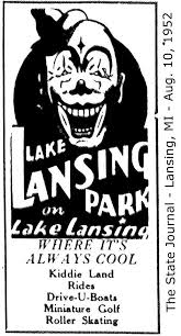 lake lansing amusement park ad from 1952 issue of the lansing