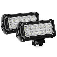 nilight led light bar 2pcs 36w 6 5inch flood led