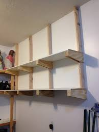 Dvd Shelf Woodworking Plans by Cabinets Ideas Hanging Garage Shelf S Homey Storage Woodworking