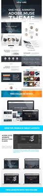 adobe muse mobile templates venture one page animated muse template by vms designs themeforest