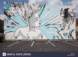 public art wall stock photos public art wall stock images alamy public wall mural depicting a woman indianapolis indiana stock image