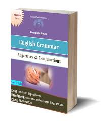 adjectives and conjunctions english grammar free e books