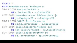 sql select from multiple tables multiple joins work just like single joins in sql server
