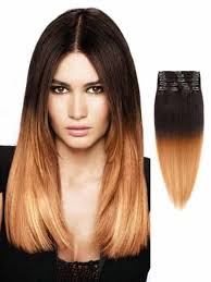 dark brown light brown ombre hair extensions tape