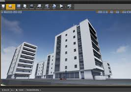 residential buildings set 3d asset cgtrader