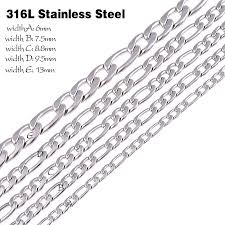 silver necklace chain lengths images Customize size 316l stainless steel necklace chain silver color jpg