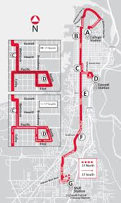 Evcc Campus Map Route 17 South To Mall Station U0026 North To College Station Via