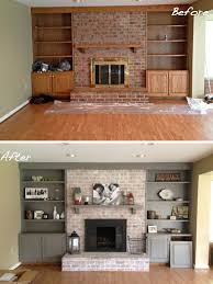Make A Fireplace Mantel by Best 20 Update Brick Fireplace Ideas On Pinterest Painting