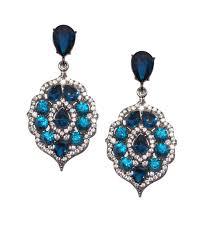 blue drop earrings blue gem drop earrings oarlly fashion accessories