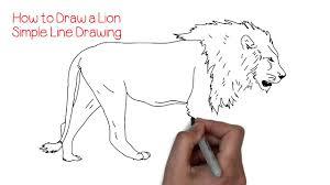 draw simple lion yzarts yzarts
