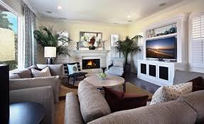 modern mansion living room with tv plain couch and in house stock