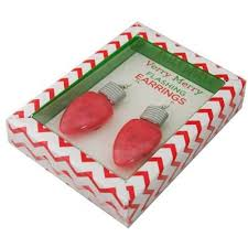 light up christmas earrings light up christmas earrings light bulb drop ear rings red amazon