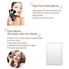 Cosmetic Mirror 16 Led Lighted Makeup Mirror Touch Screen Vanity Beauty Cosmetic