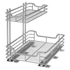 Under Cabinet Sliding Shelves Design Trend Glidez Sliding Under Cabinet 2 Tier Organizer 12