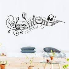 popular music note quotes decorations buy cheap music note quotes music notes wall stickers removable art pvc quote diy microphone headphones wall sticker vinyl decal mural
