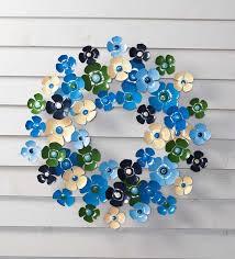 plow hearth floral metal wreath reviews wayfair