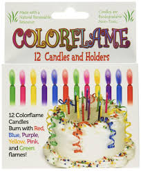 wine birthday candle amazon com colorflame birthday candles with colored flames 12