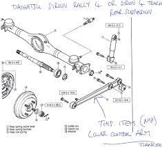 rear suspension rally 4 and 4 trac daihatsu drivers club uk