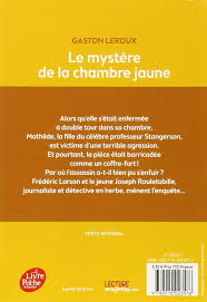 mystere chambre jaune amazon fr le mystère de la chambre jaune texte intégral gaston