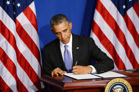 Obama No American Flag Executive Orders