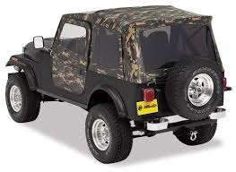 jeep frameless soft top bestop 50th anniversary jeep camouflage soft top