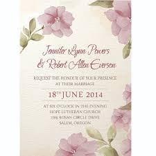 affordable purple flower watercolor wedding invitations