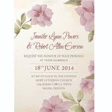 Wedding Invitations Purple Affordable Purple Flower Watercolor Spring Wedding Invitations