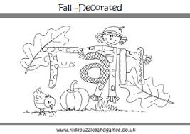 autumn fall colouring sheets kids puzzles and games