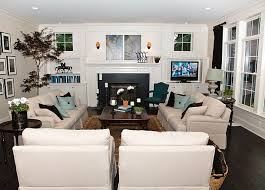 remarkable family room decorating ideas with nice white sofa