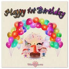 happy 1st birthday wishes for baby girls and boys wishesalbum