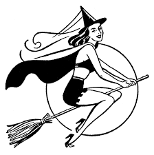 retro halloween graphic pretty witch the graphics fairy