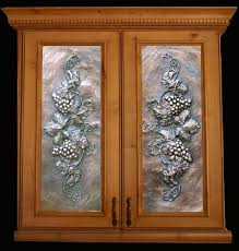Stained Glass Kitchen Cabinet Doors by Art Metal Panels From Artful Inserts The Cabinet Door Panels