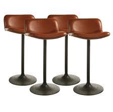 cushioned bar stool kitchen design unique brown leather swivel bar stool cushion