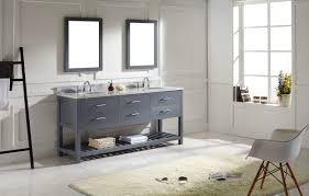 virtu usa caroline estate 60 bathroom vanity cabinet in grey