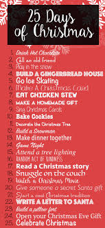25 days of activities for the entire family