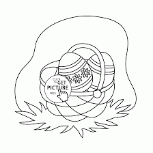 mini basket easter eggs coloring page for kids holidays coloring