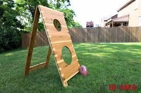 Kids Playing Backyard Football Ana White Football Toss Game Diy Projects
