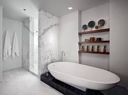 bathroom square white sink square tall mirror glass wall rack