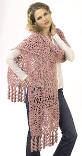 crochet wrap motif lace wrap crochet pattern from caron yarn favecrafts