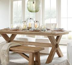 Dining Room Table Bench Toscana Dining Bench Pottery Barn