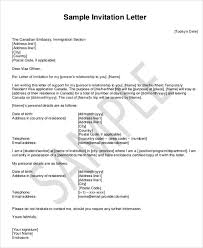 Uk Visa Letter Of Invitation Business Business Invitation Letter To Canada Images Letter Exles Ideas