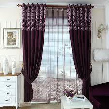 Purple Room Darkening Curtains Purple Chenille Privacy And Insulated Room Darkening Curtain